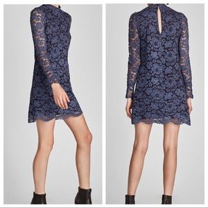 Zara Blue Lace Dress
